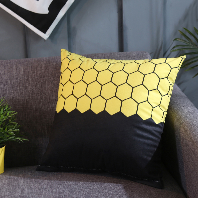 Contemporary Design Square Throw Pillow for Office Break Room