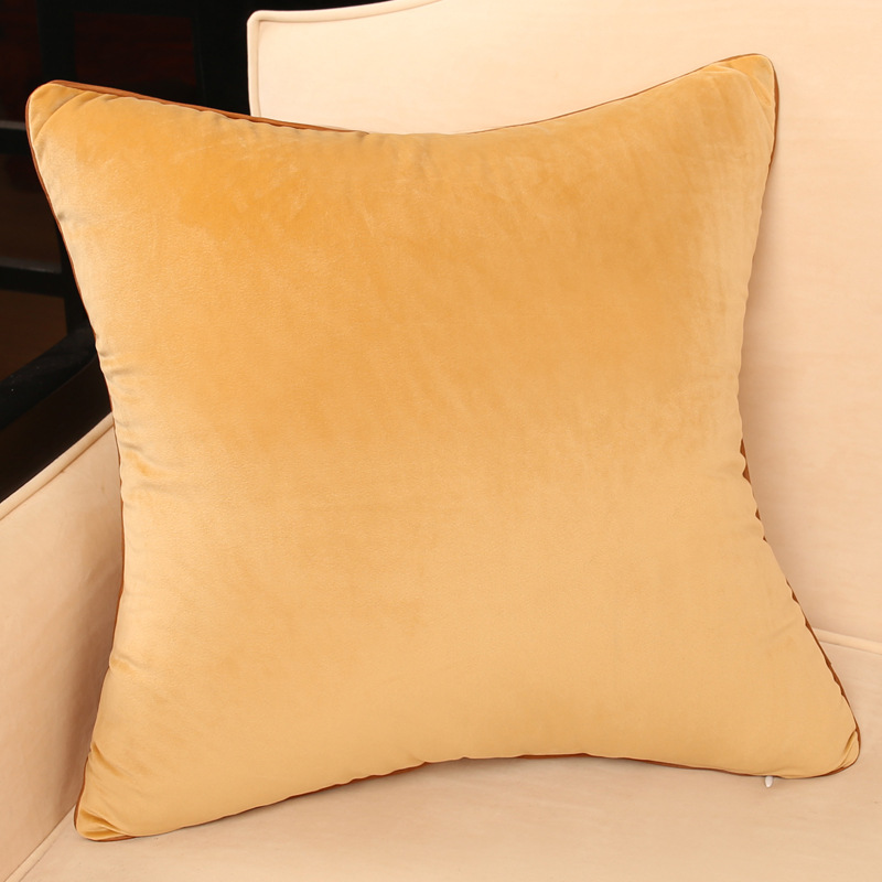 Color Sheen Pillow and Pillowcase Collection for Living Room Cushion