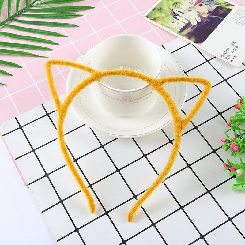 Cute Solid Color Stretchable Cat Ears Headband for Any Occasion