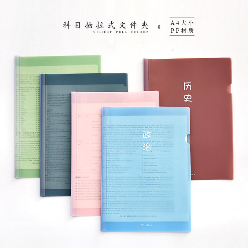 Transparent Plastic A4 Folder for Submitting Documents