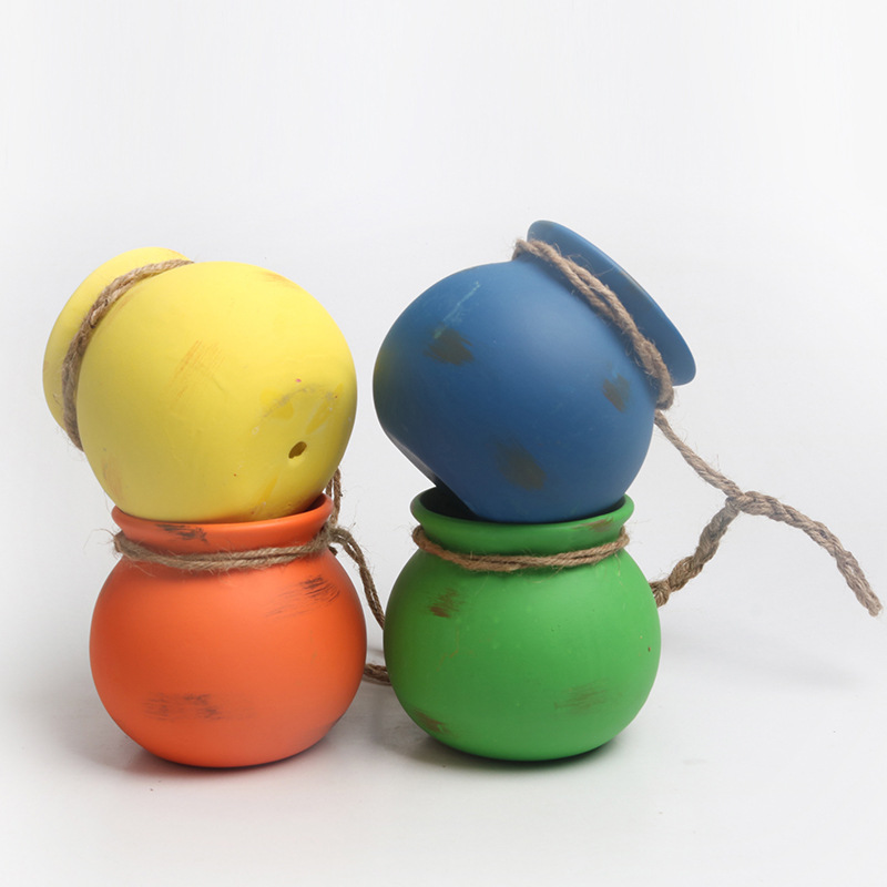Colorful Rope Plant Ceramic Pot for Succulents