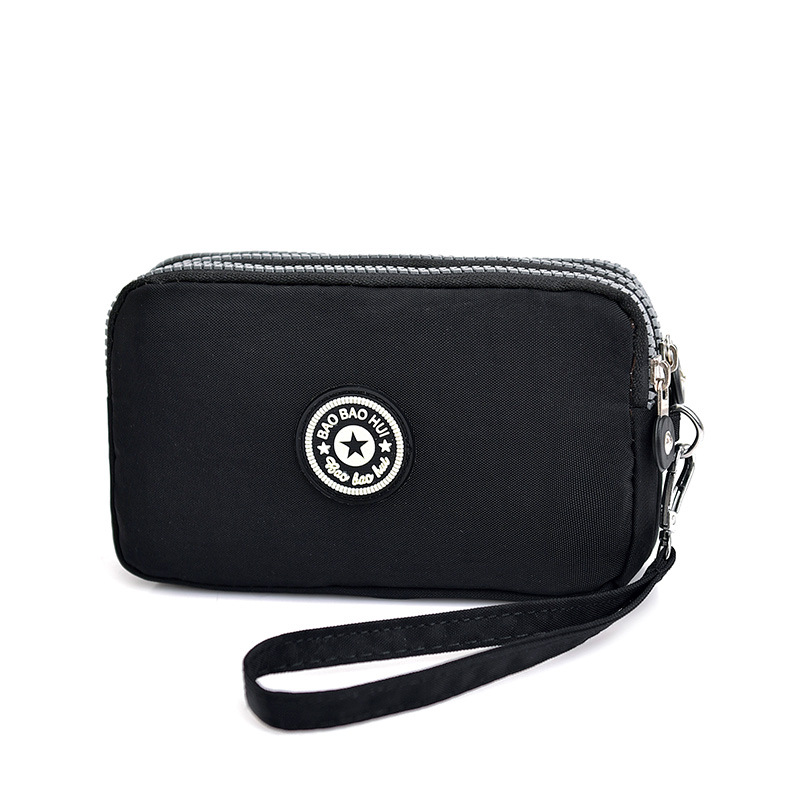 Nylon Tri-Compartment Wallet for Large Capacity