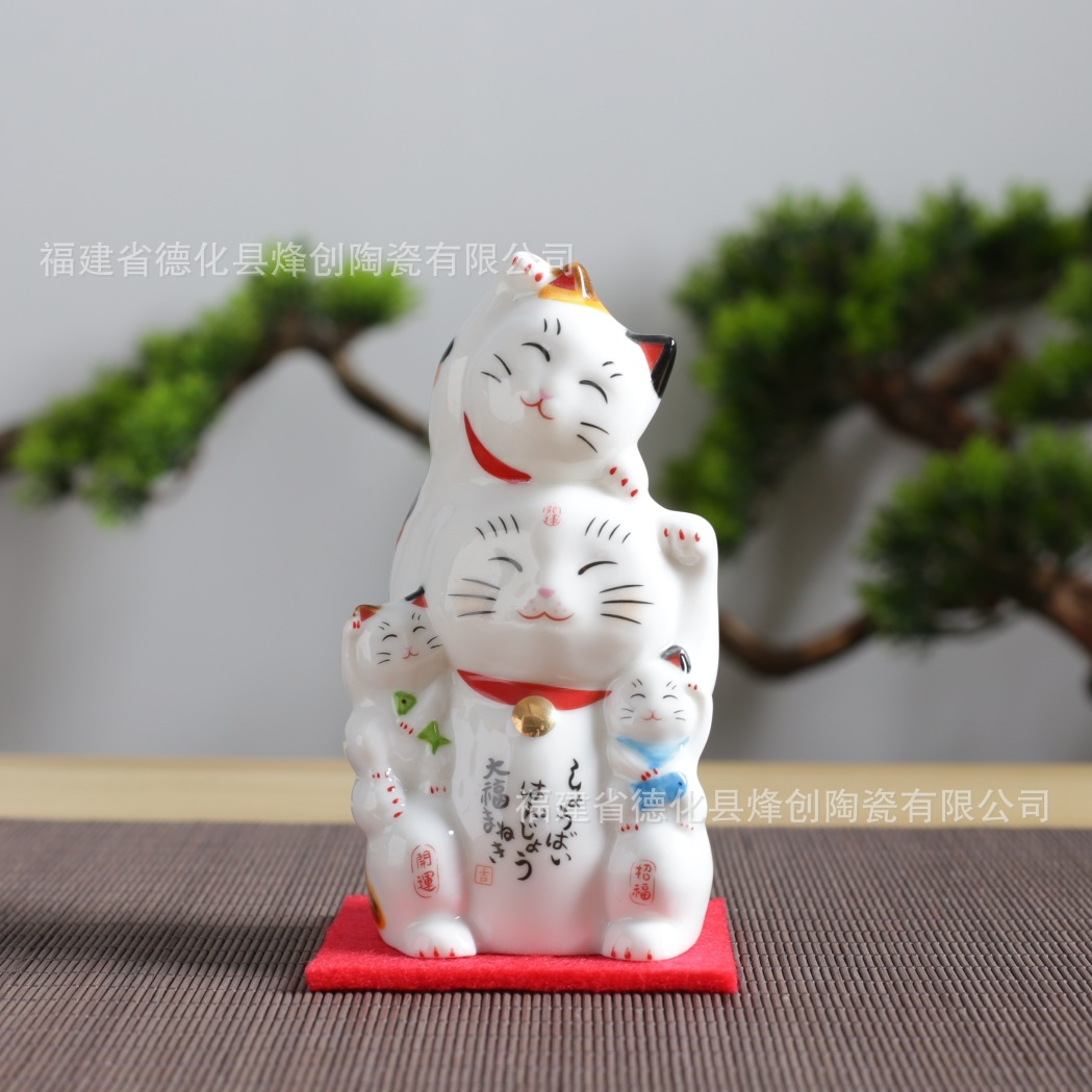 Ceramic Lucky Cats for Feng Shui