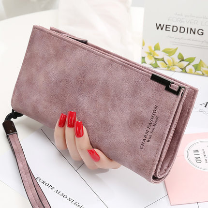 Chic Minimalist Long Wallet for Storing Important Cards