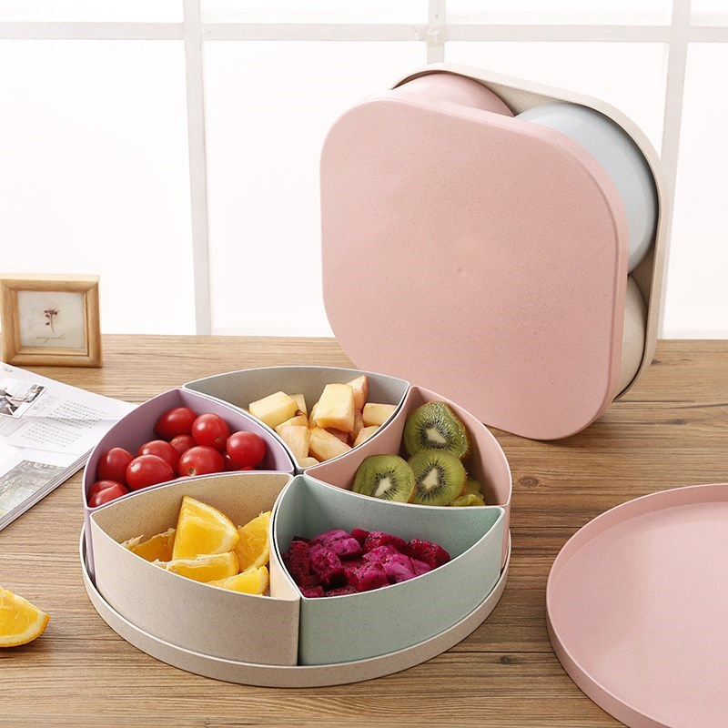 Multi-functional Snack/Fruit Plate for Food Storage