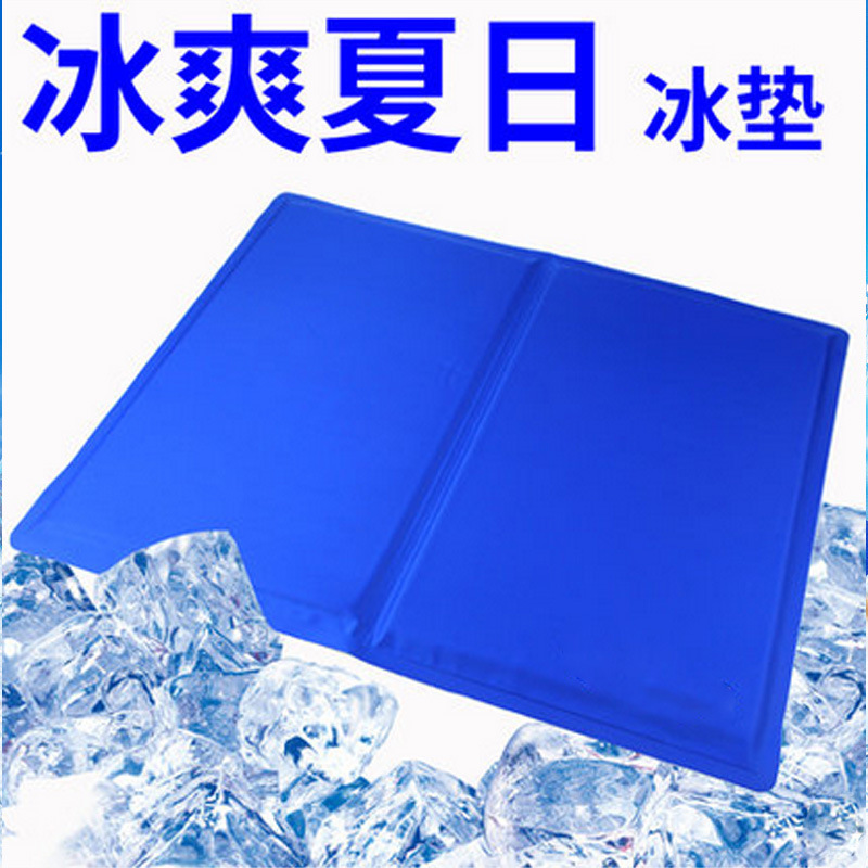 Blue Cloth Cooling Pet Mat for Putting in Your Refrigerator and Beat the Summer Heat