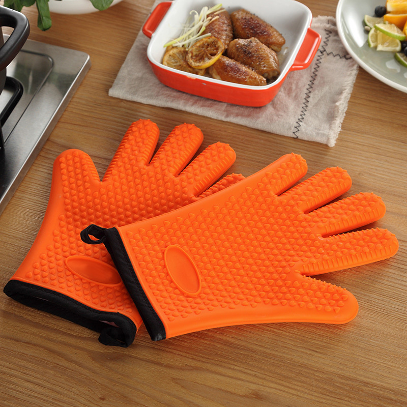 Colorful Silicone Insulation Gloves for Safety Purposes