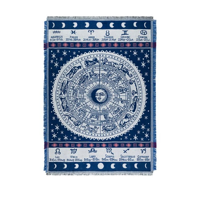 Zodiac Signs Throw Blanket