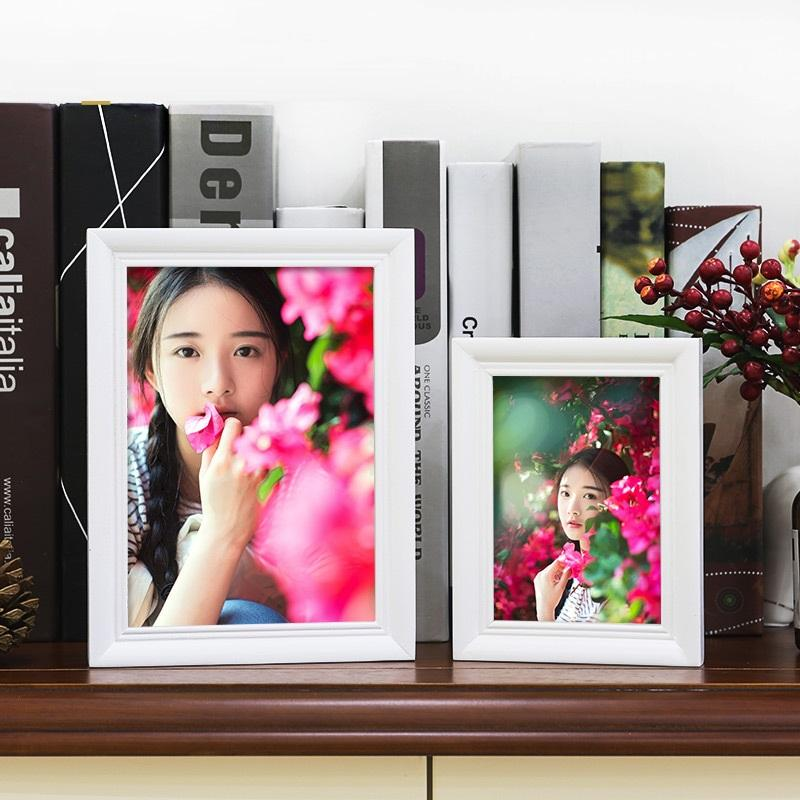 Colored Wood Border Picture Frame