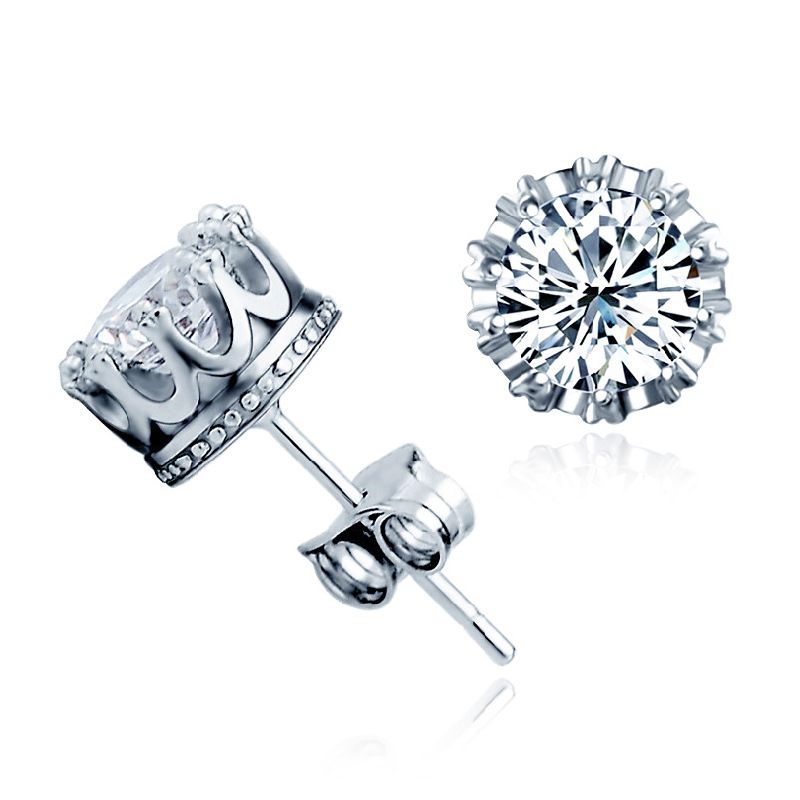 Classic Faux Diamond Earrings for Women