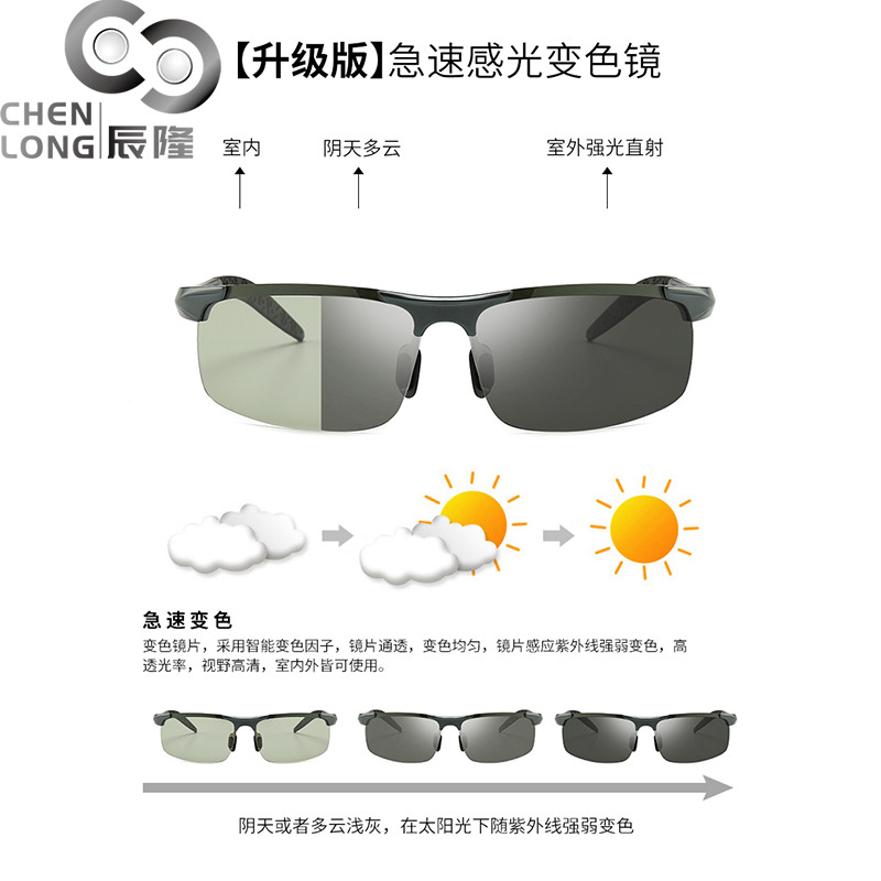 Simple Tinted Aluminum Polarized Men's Sunglasses for Sports and Travel
