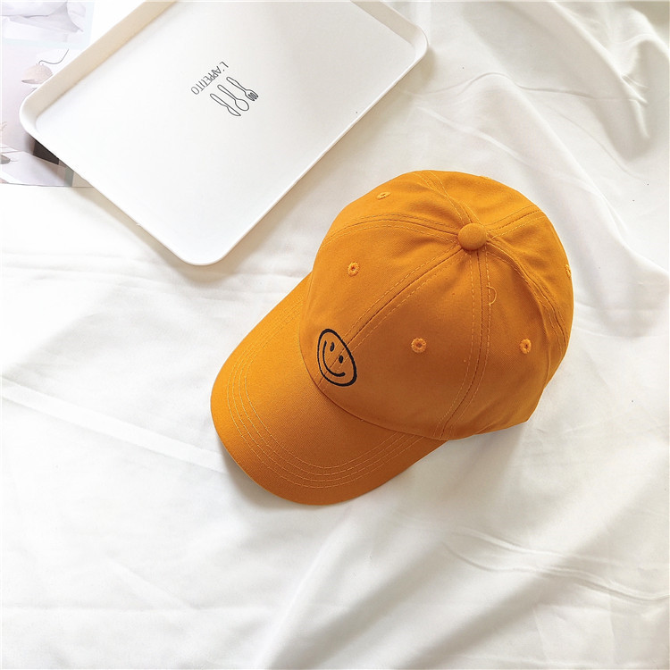 Minimalist Smiley Face Embroidered Baseball Cap for Teen's Go-To Fashion