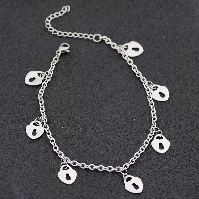 Locked Hearts Charm Anklet