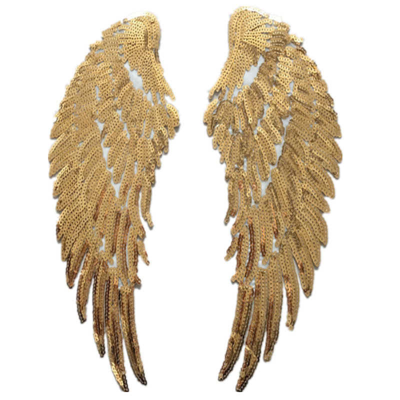 Dazzling Sequined Angel Wings for Event's Costume