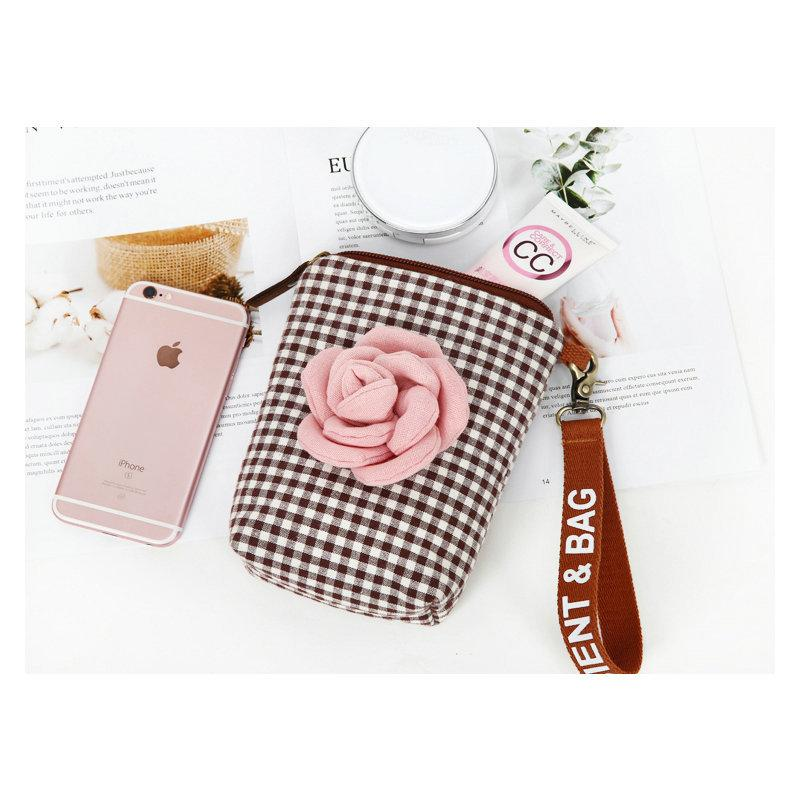 Rose Plaid Mobile Phone Bag