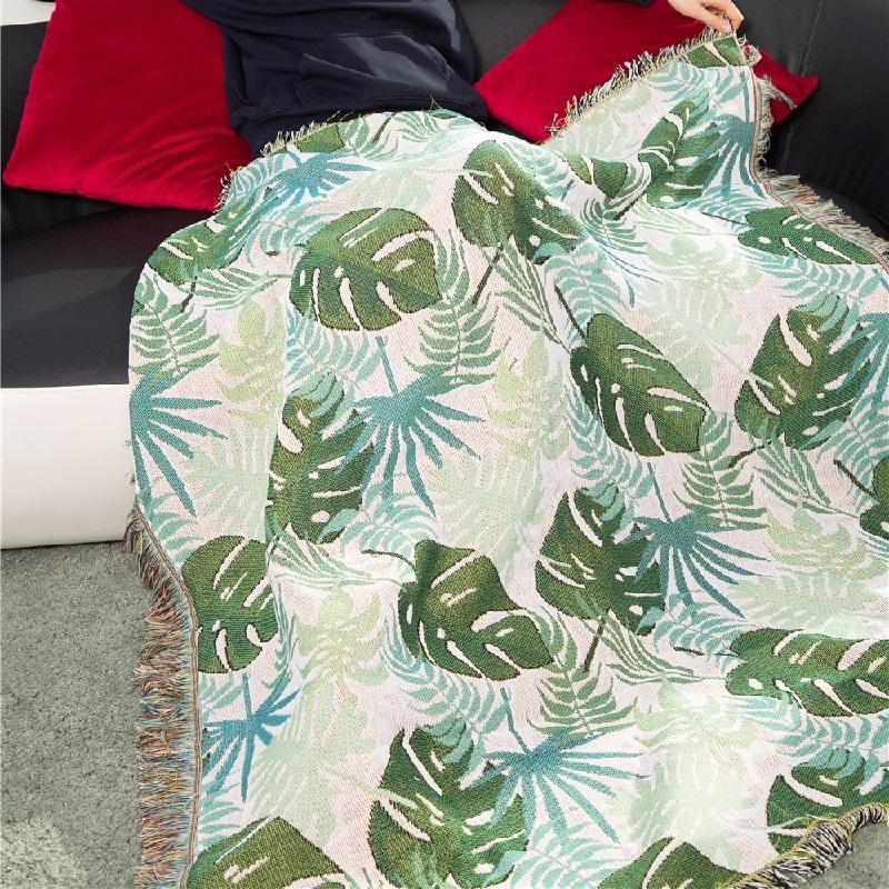 Turtle Leaves Throw Blanket