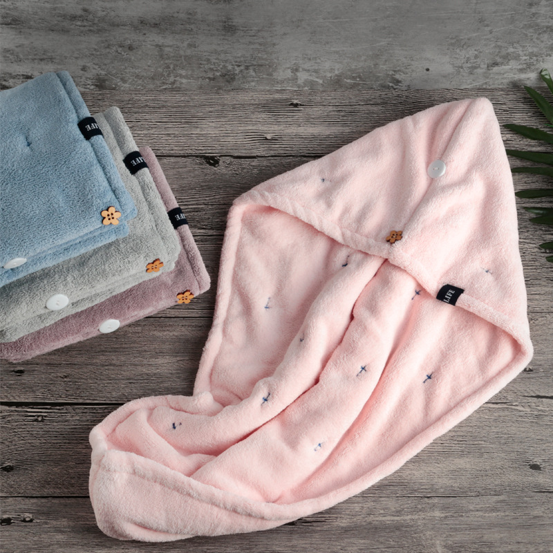 Super Comfy Polyester and Nylon Hair Cap Towel for Long Hair