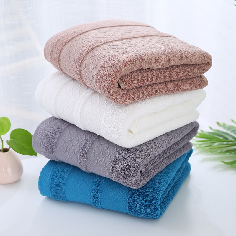 Absorbent Embroidered Bath Towels for Friends Simple Birthday Gifts