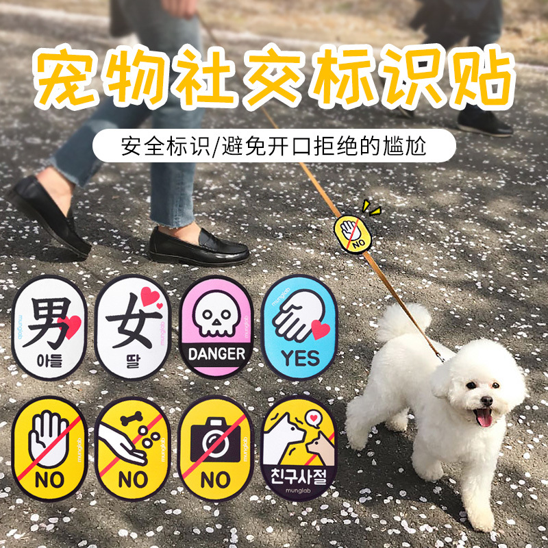 Simple Dog Rope With Warning and Signs for Outdoor Wear