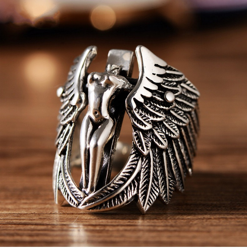 Creative Angel Ring for Personality Fashion Wear