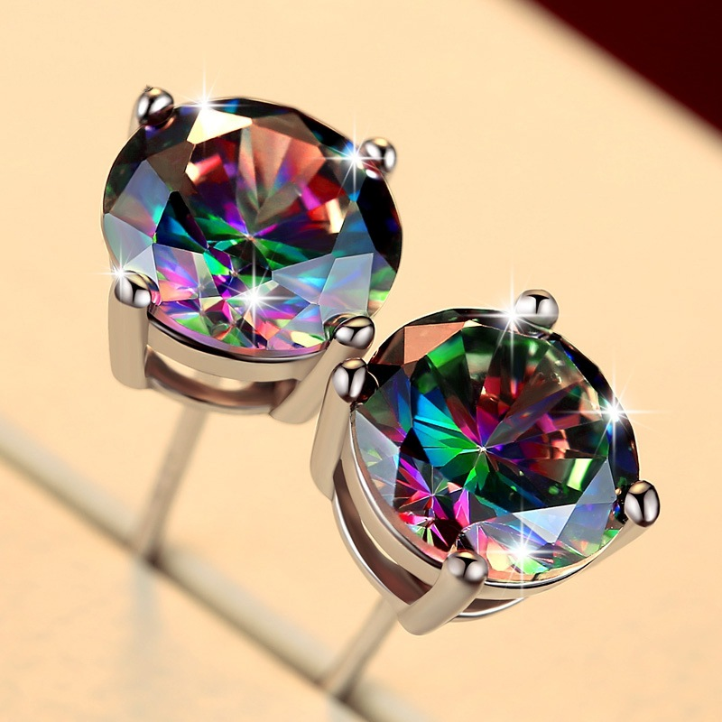 Iridescent Silver Classic Earrings for Casual Days