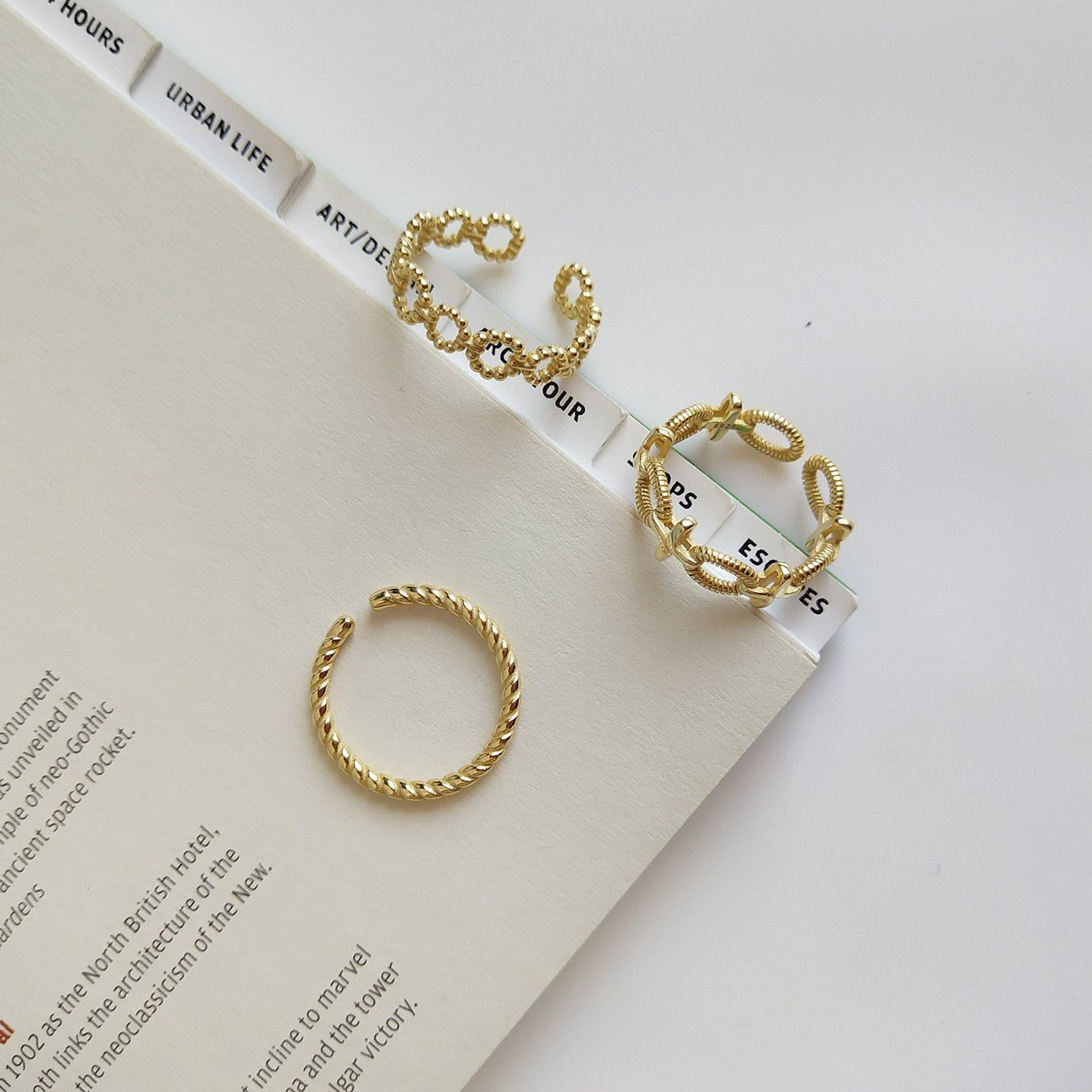 Amia Gold Plated Ring