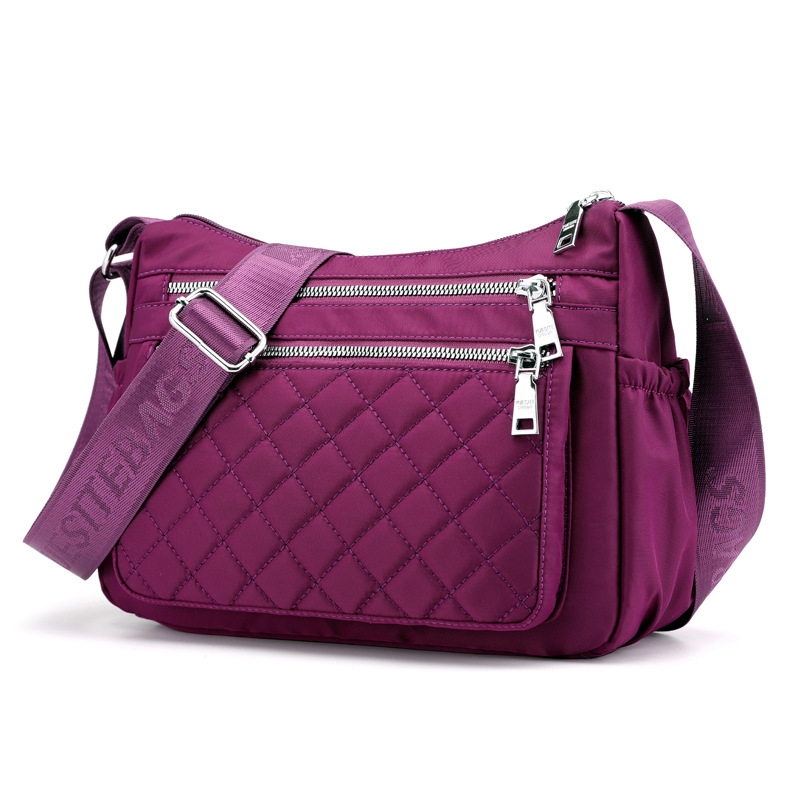 Fabricated Large Capacity Cross Body Bag for Moms