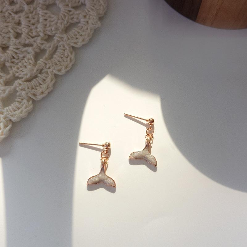 Mini Mermaid Tail Earrings