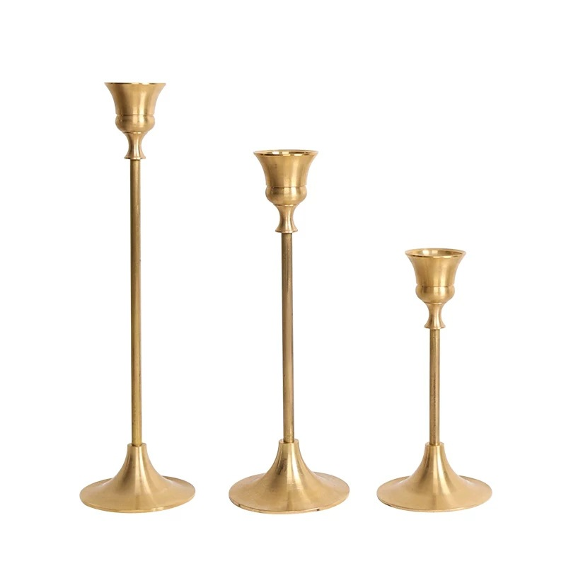Golden Long Candle Holder for Candlesticks