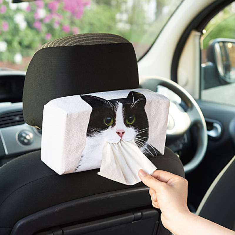 Cute Animal Tissue Paper Cloth Bag for Car Use