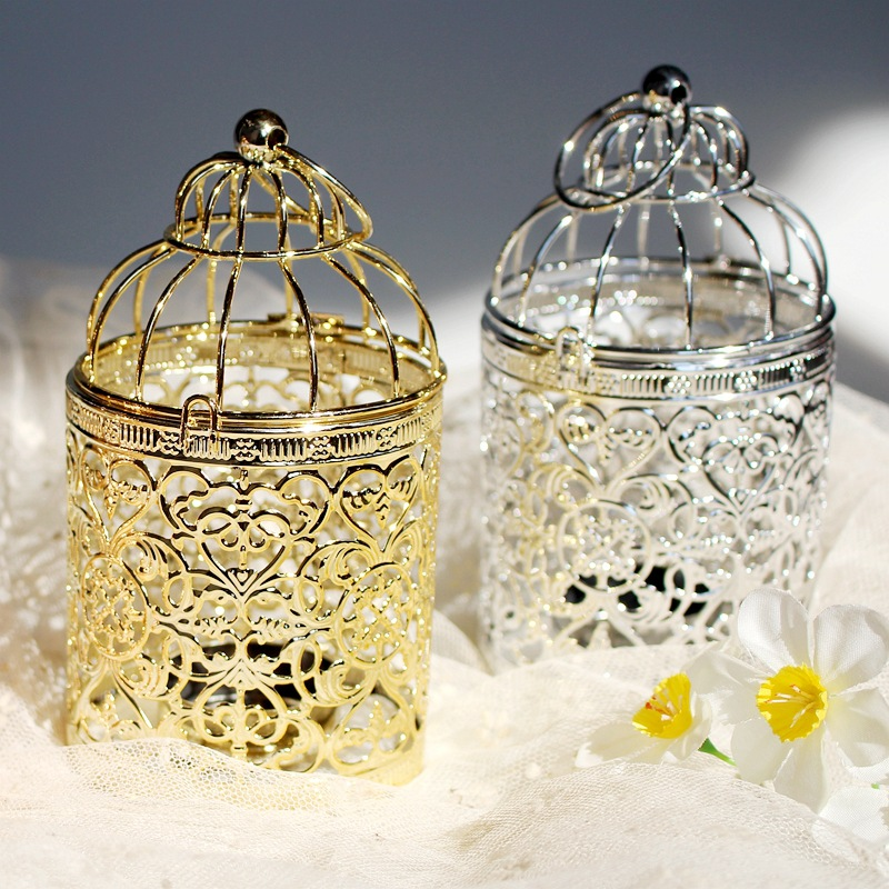 Miniature Bird Cage Candle Holder for Wedding Giveaways