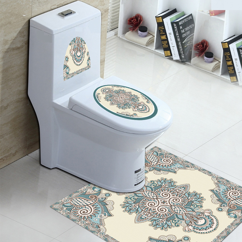 Creative Printed PVC floor and Toilet Sticker for Hotels