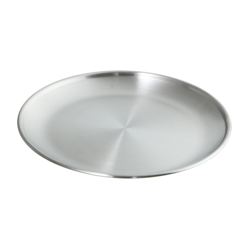 Insulated Stainless Steel Flat Dish for Dining