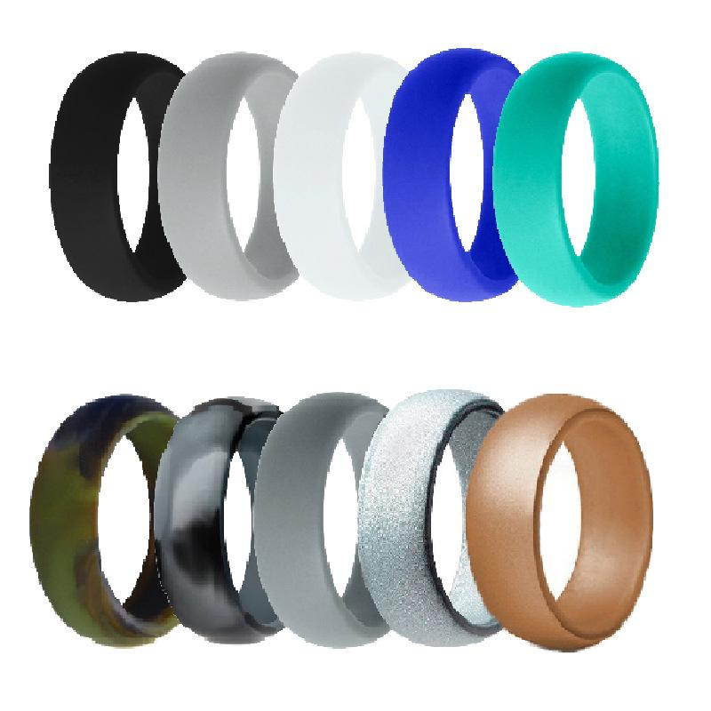 Mixed Colors Silicone Ring (10 Pieces/Set)