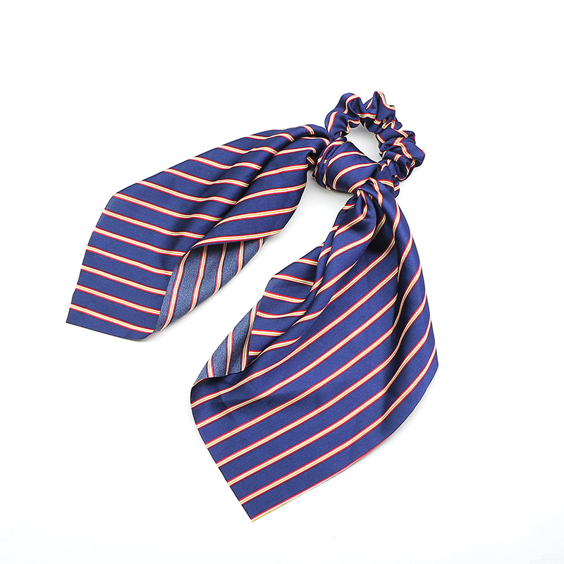 Blue and Red Stripes Pony Scarf
