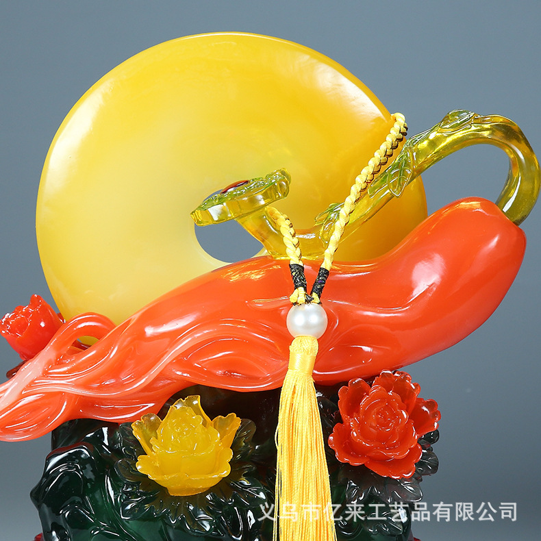 Resin Lucky Chinese Inspired Ornament for Gifting