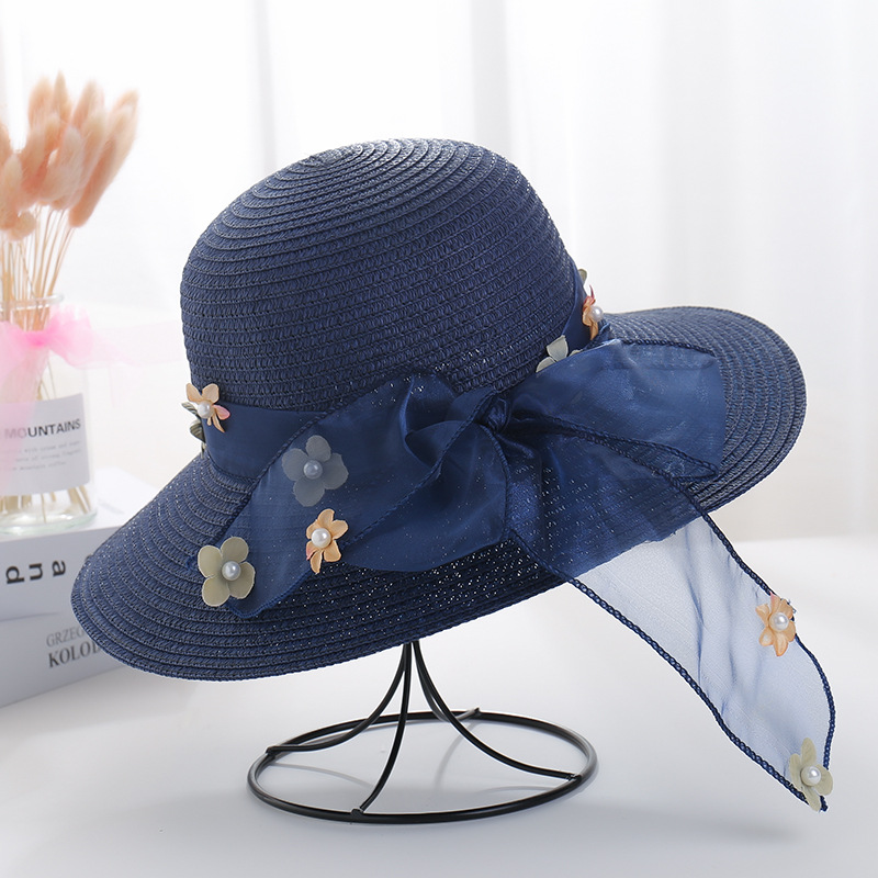 Beauteous Straw Hat for Summer Outings Headwear