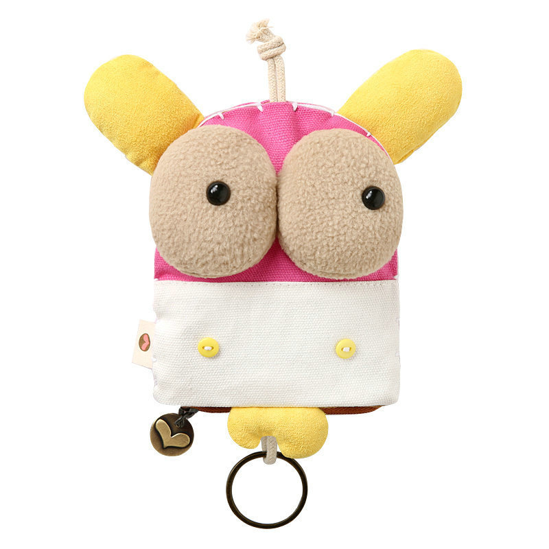 Cute Wide-Eyed Animal Keychain for Bags