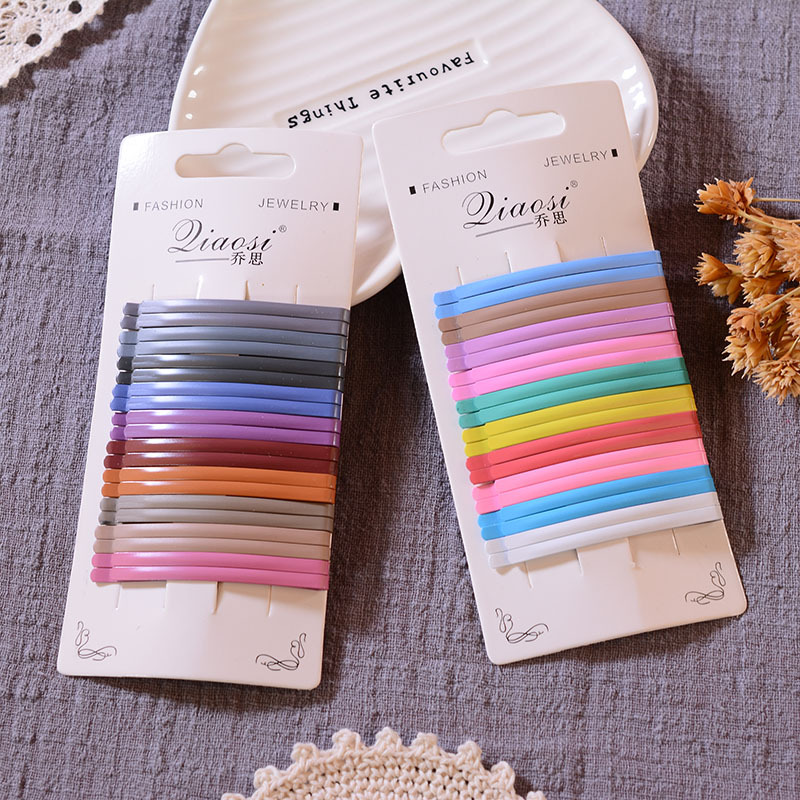Simple Thin Solid Color Hair Clips for Styling Your Hair
