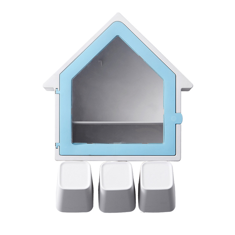 Dainty House-Shaped Bathroom Rack for Organizing Toothbrushes