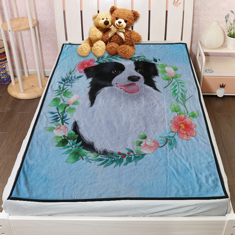 Polyester Fiber Blanket with Furry Friend Print for Pet Lovers