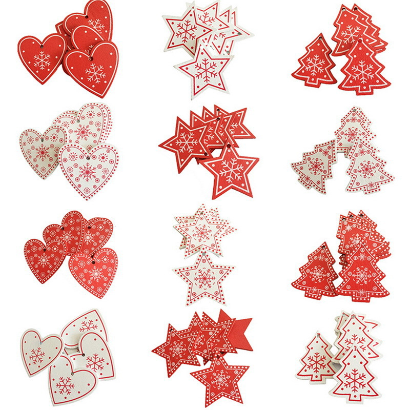 Festive Red and White Christmas Tree Ornament for Holiday Decors