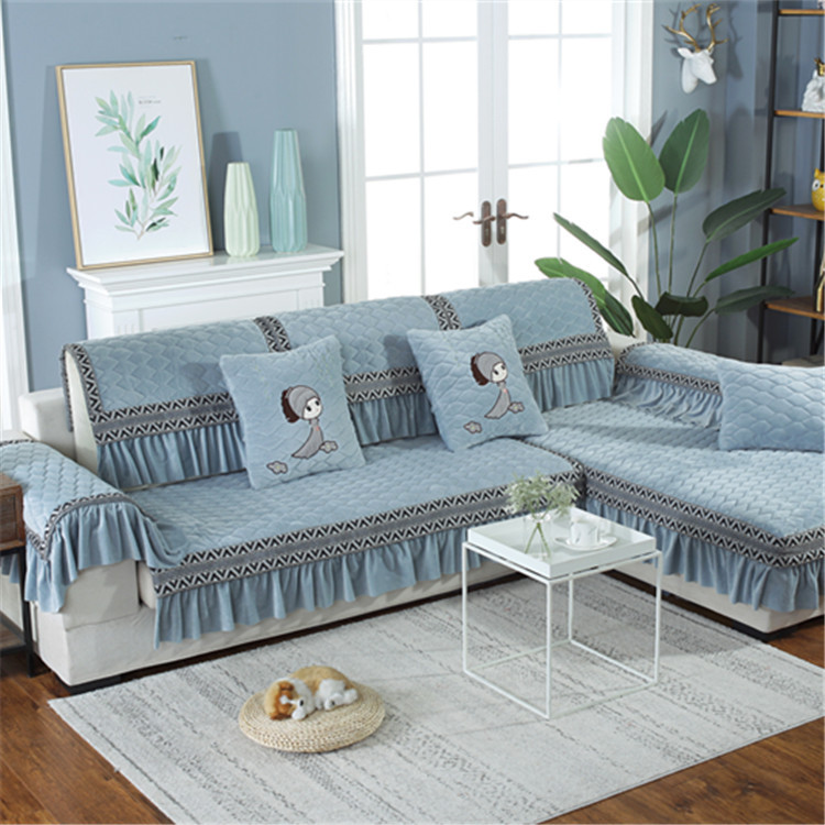 Prepossessing Thick Textured Sofa Cover for Living Room Furniture Care