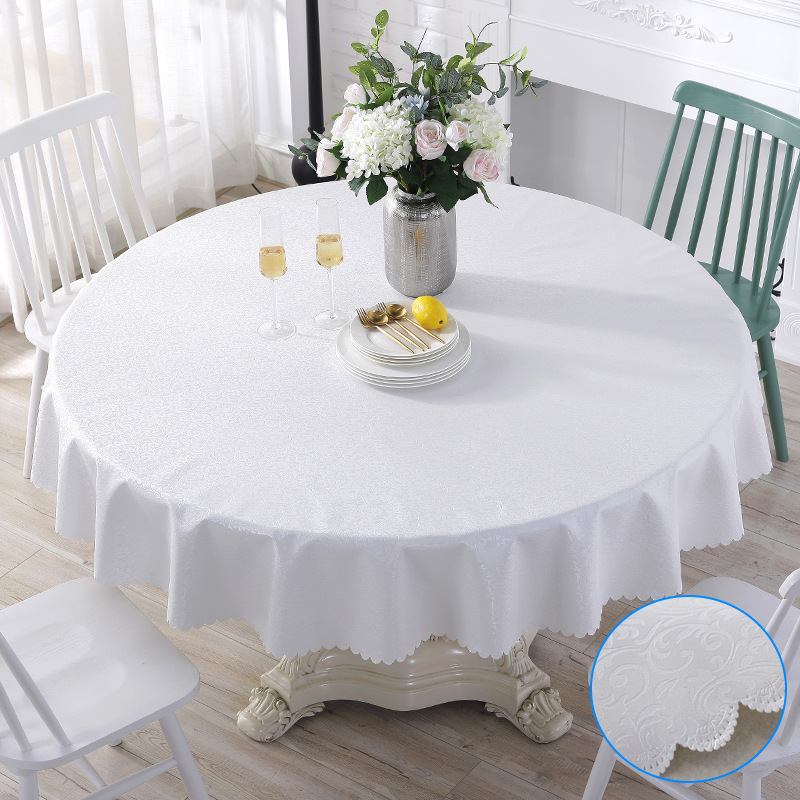Round Flower Petals Tablecloth for Dinner Table
