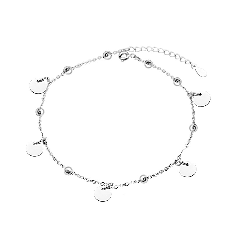 Minimalist Circles Charm Anklet for Formal Events