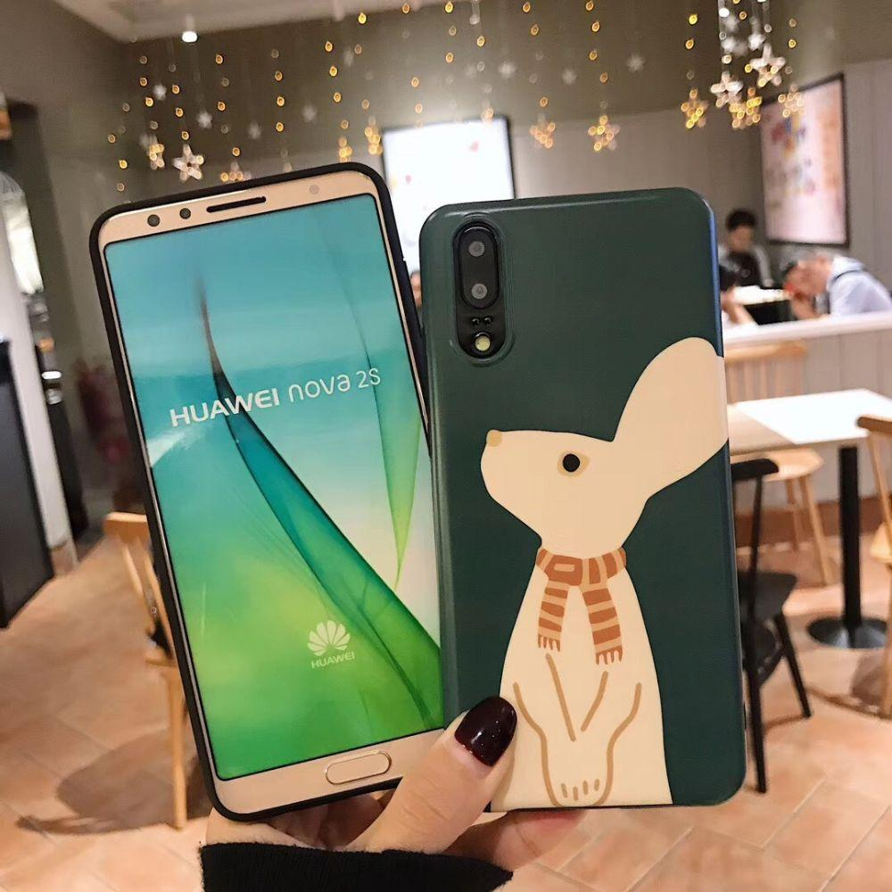 Bunny in Scarf Huawei Phone Case