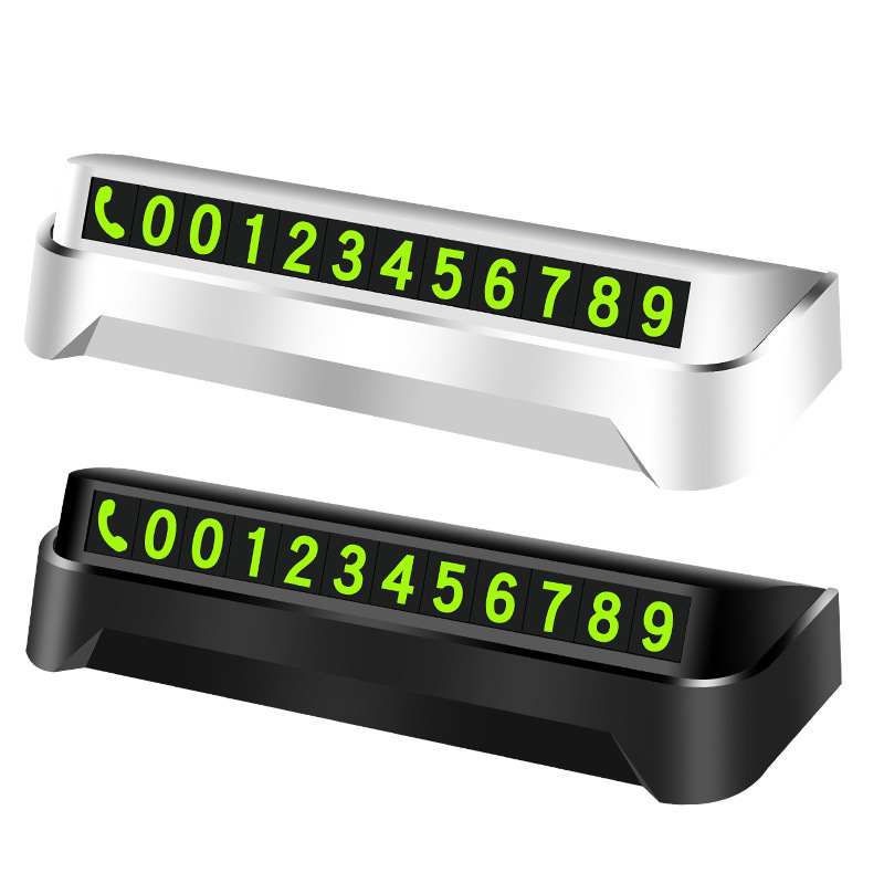 Useful Temporary Parking Number Display for Car Accessories