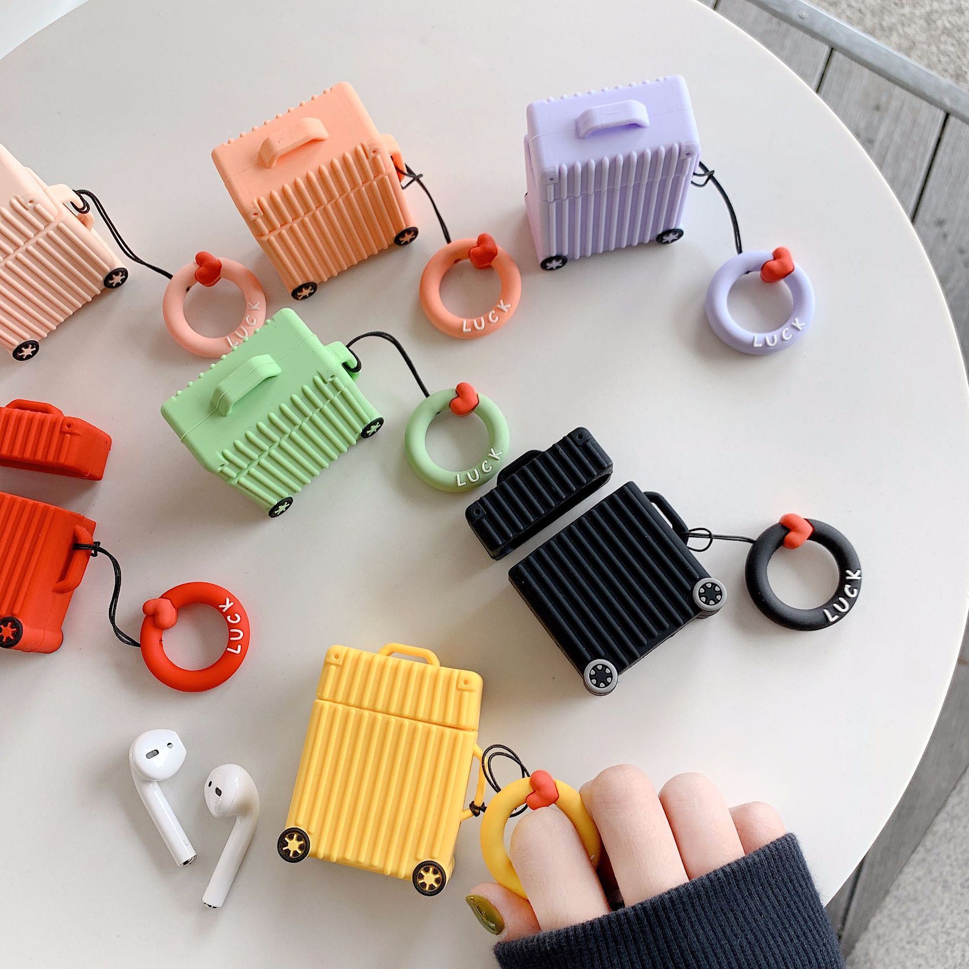 Rectangle Luggage AirPods Case