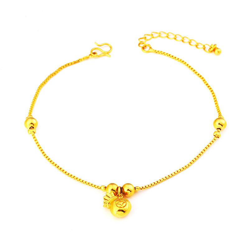 Dainty Pendants Gold-Plated Anklets for Good Luck Accessories