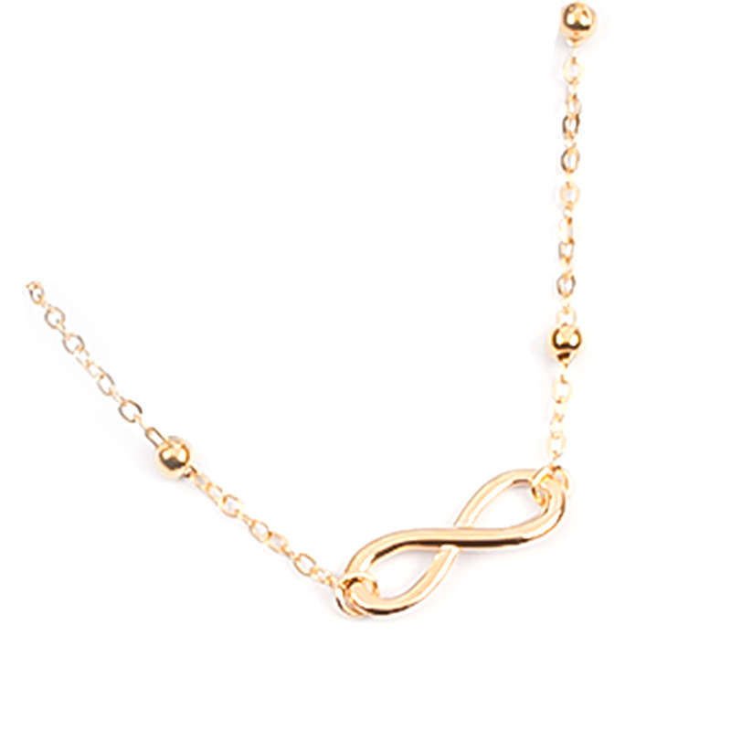 Infinite Love and Faux Pearl Anklets